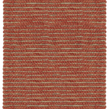 Valencia Wool and Jute Area Rug in Cayenne design by Classic Home