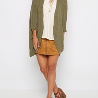Olive Ribbed Cocoon Wrap | Cardigans & Wraps | rue21