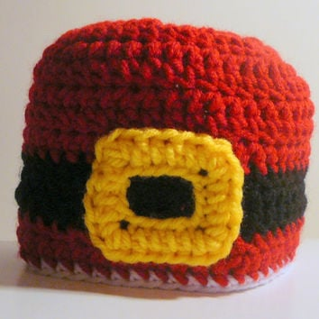 Santa Suit Hat PDF Crochet Pattern - Newborn to Adult - INSTANT DOWNLOAD