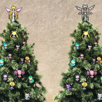 Sailor Moon Perler Sprites - Queen Serenity Tree Toppers and Ornament Set