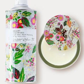 Library Of Flowers Gift Duo: Wildflower & Fern Candle and Bubble Bath