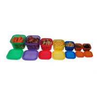 7PCS/Set Multi-Colored Portion Control Food Container Fitness Workout Meals Eating Plan Nutrition Lunch Dinner Box Home Tools