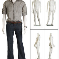 Plastic Male Full Body Mannequin - Headless