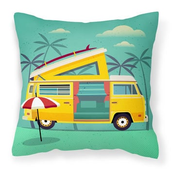Greatest Adventure Camper Van Fabric Decorative Pillow BB5477PW1818