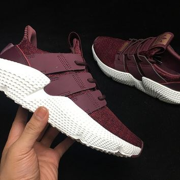 HCXX A311 Adidas Porphere EQT 3.0 Hedgehog Casual Running Shoes Wine Red