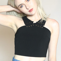 Tied Up Riveted Crop Top
