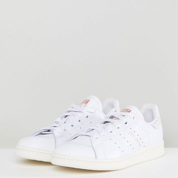 adidas Originals Stan Smith Sneakers With Reptile Back Counter at asos.com