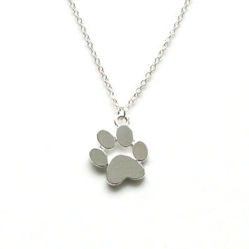 CUTE necklaces Creative love Heart Paw Claw of Dog Kitty Cat Pendant Necklace jewelry lovers best Gift Women girl sister dog