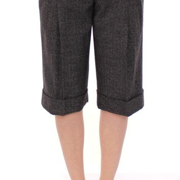 Gray wool shorts pants
