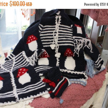Mothers Day Sale 15% Off Mothers Day Sale 15 Percent Off - Brand New Handmade Crochet Baby set Cardigan Hooded Vest Scarf Booties, Baby Show