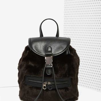 Total Animal Faux Fur Backpack