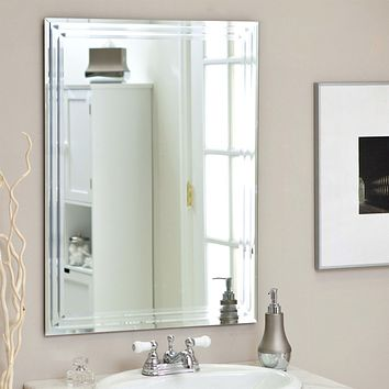 Charmant Rectangular 31.5 Inch Bathroom Vanity Wall Mirror With Contempor