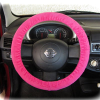 by (CoverWheel) Steering wheel cover for wheel car accessories Neon Pink