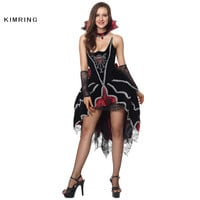Sexy Witch Halloween Costume Gothic Vampire Cosplay Magic Moment Costume Adult Witch Costume Fancy Dress for Women