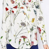 Warehouse Scatter Floral Print Shirt