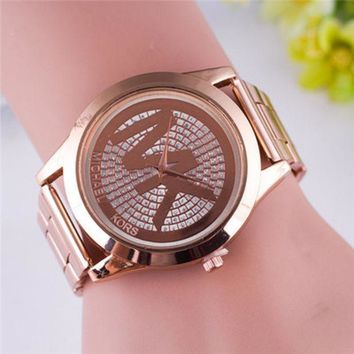 Perfect MK Fashion Quartz Classic Watch Round Ladies Women Men Wristwatch
