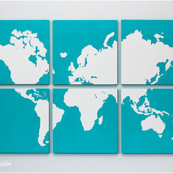 Custom Art Collection on 6 Panels  Great Gift Idea by RightGrain
