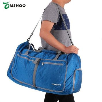 ESB3F TOMSHOO Waterproof Polyester Men/Women Gym Bags Large Capacity 80L Foldable Packable Duffle Travel Bag Sports Bags
