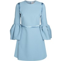 Roksanda Hidari Bell Sleeve Dress Blue | Harrods.com