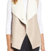 Dylan Faux Shearling Backed Knit Vest | Nordstrom