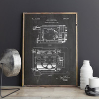 Movie Room Printable, Vintage Camera Decor, Camera Poster, Camera Blueprint, Hollywood Printable, Movie Camera Poster, Art, INSTANT DOWNLOAD