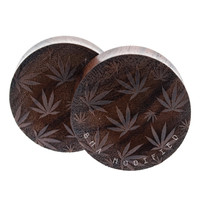 Dark Sono Cannabis Lasered Wood Plugs (32mm-42mm)