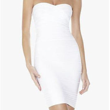 Off Shoulder Halter Bandage Dress