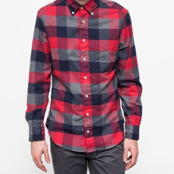 Gitman Brothers Vintage Indigo Plaid Red Japan