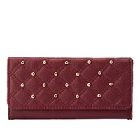 Studded & Quilted Checkbook Wallet by Charlotte Russe