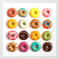 Donuts Art Print by Lyre Aloise