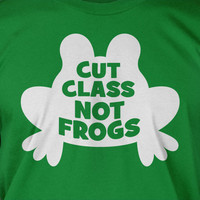 Cut Class Not Frogs Science School Geek Nerd Tshirt T-Shirt Tee Shirt Mens Womens Ladies Youth Kids Geek Funny