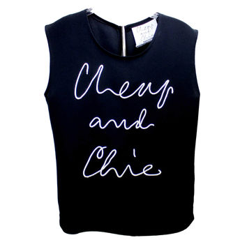 Moschino Cheap and Chic Tank with Corded Logo