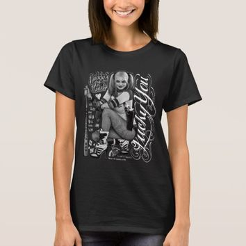 Suicide Squad | Harley Quinn Typography Photo T-Shirt