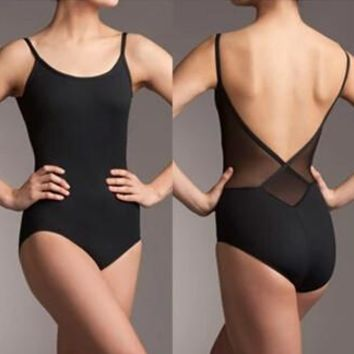 Hot selling Black Fashion Sexy Dancewear Ballet Leotard Exercise girl dance clothes ballet leotard  suit adult