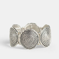 Silver Shell Bracelet - $16.00 : ThreadSence, Women's Indie & Bohemian Clothing, Dresses, & Accessories