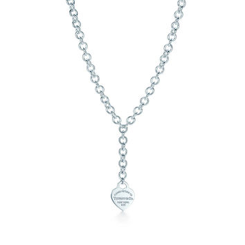 Tiffany & Co. - Return to Tiffany™ heart necklace in sterling silver, small.