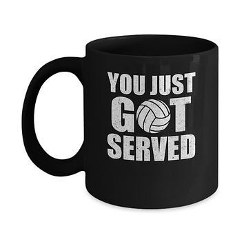 You Just Got Served Gifts For Volleyball Lovers Mug