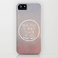I. Music fills the infinite iPhone & iPod Case by Zyanya Lorenzo