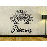 Princess with Crown Version 101 Vinyl Wall Decal Sticker