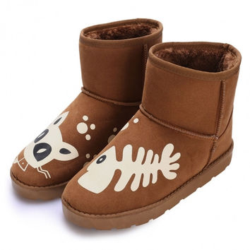 Women's Casual Winter Warm Ankle Snow Boots Flats