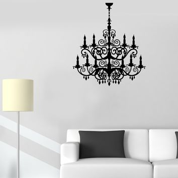 Vinyl Wall Decal Chandelier Room Decoration Lighting House Stickers (2340ig)