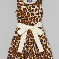 Brown Cheetah Bow Dress - Infant, Toddler & Girls | zulily