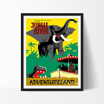 Jungle River, Disneyland Poster