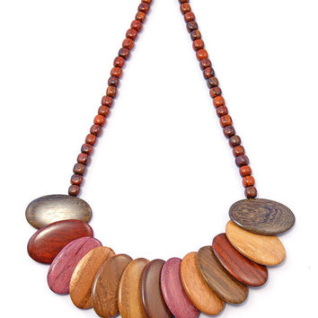 Wood Necklace - Aura - Natural Artist