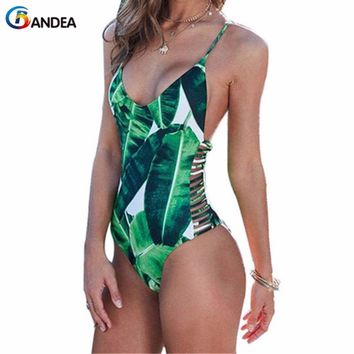 BANDEA women monokini bikini brand sexy swimsuit hollow out swimwear bikini brazilian vintage one pieces swimsuit