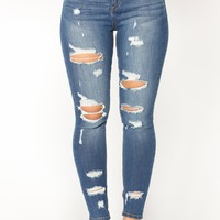 Fleek Queen High Rise Jeans - Medium Blue Wash
