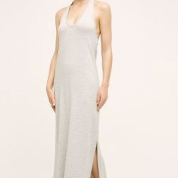 Saturday/Sunday Halter Maxi Dress in Light Grey Size: