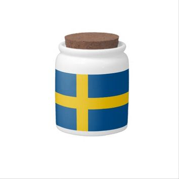 Swedish Flag on Candy Jar