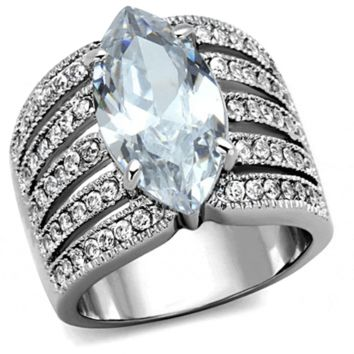Marilyn - FINAL SALE Beautiful marquis cubic zirconia stone set in stainless steel