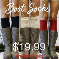 TALL BASIC BOOT SOCKS - 3 pack